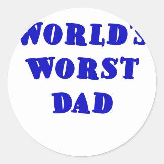 Worlds Worst Dad Round Stickers