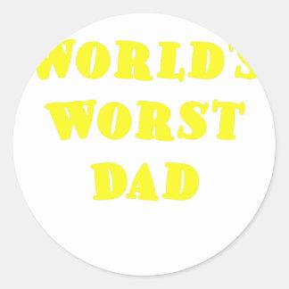 Worlds Worst Dad Stickers