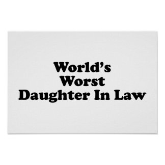 World's Worst Daughter in Law Poster