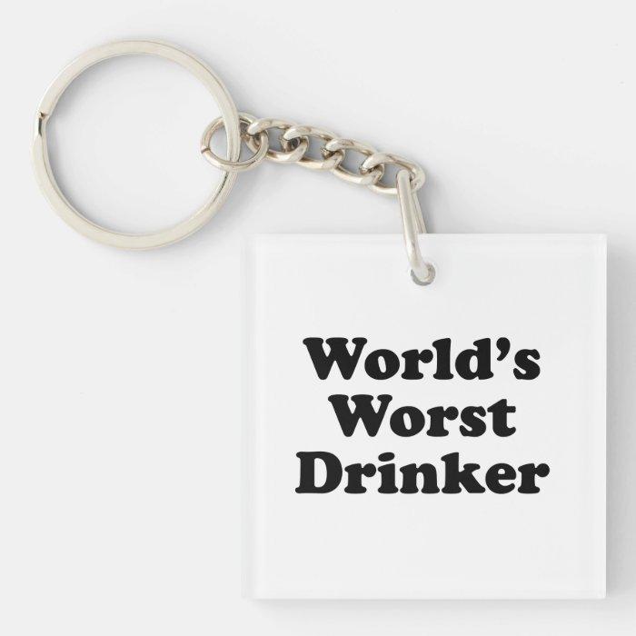 World's Worst Drinker Keychain