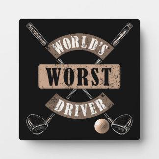 World's Worst Driver WWDa Plaque