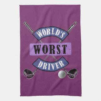 World's Worst Driver WWDc Kitchen Towels