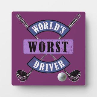World's Worst Driver WWDc Plaque