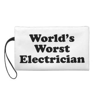 World's Worst Electrician Wristlet Purse