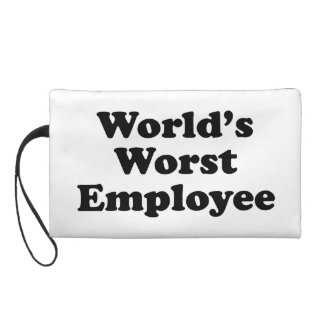 World's Worst Employee Wristlet Purse