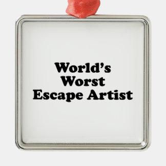 World's Worst Escape Artist Ornament