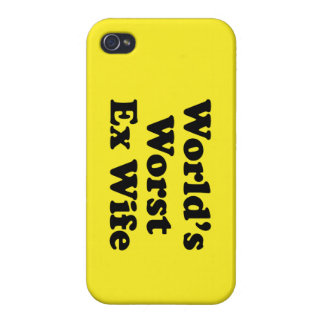 World's Worst Ex Wife iPhone 4/4S Covers