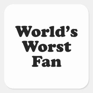 World's Worst Fan Square Sticker