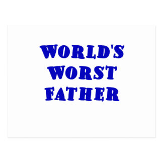 Worlds Worst Father Postcard