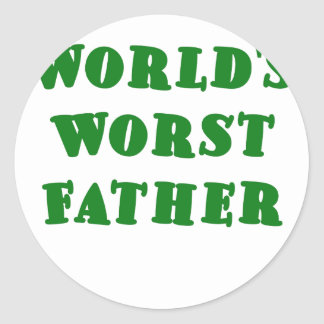 Worlds Worst Father Stickers
