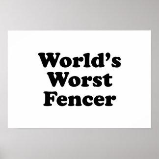 World's Worst Fencer Print