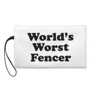 World's Worst Fencer Wristlet Clutches