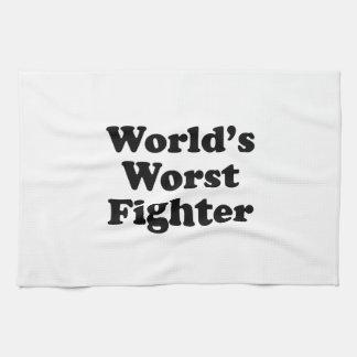 World's Worst Fighter Hand Towel