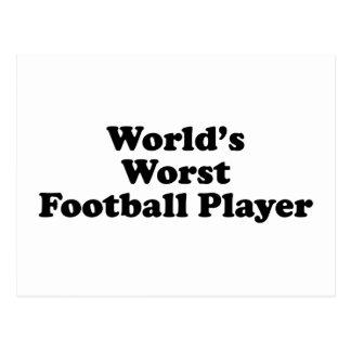World's worst Football player Postcard
