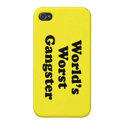 World's Worst Gangster iPhone 4/4S Cover