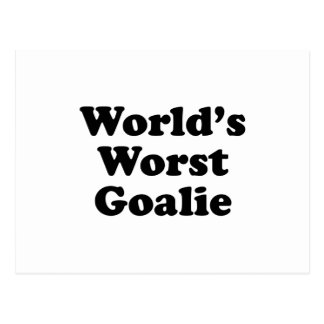 World's Worst Goalie Postcard