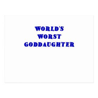Worlds Worst Goddaughter Post Card