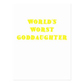 Worlds Worst Goddaughter Postcard