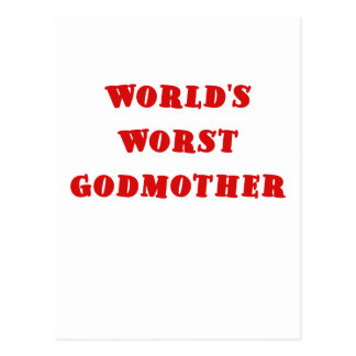Worlds Worst Godmother Post Cards