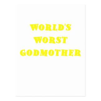 Worlds Worst Godmother Postcard