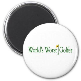 World'S Worst Golfer 2 Inch Round Magnet