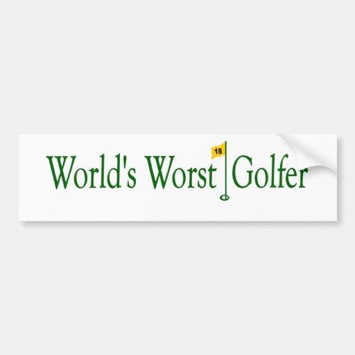 World'S Worst Golfer Bumper Sticker