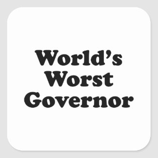 World's Worst Governor Square Sticker