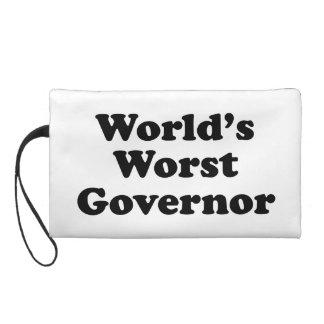 World's Worst Governor Wristlet Clutch