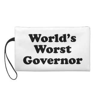 World's Worst Governor Wristlet Purse