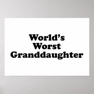World's Worst Granddaugher Poster