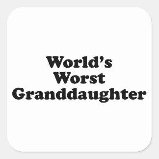 World's Worst Granddaugher Square Sticker