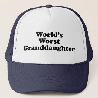 World's Worst Granddaugher Trucker Hat