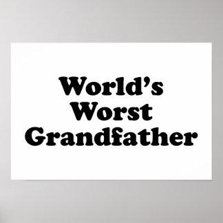 World's Worst Grandfather Print