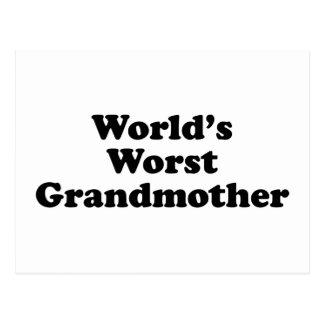 World's worst grandmother postcard