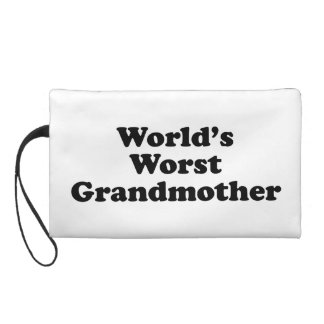 World's worst grandmother wristlet