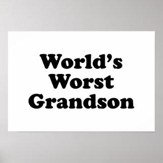 World's Worst Grandson Print