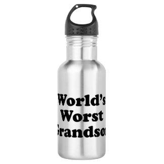 World's Worst Grandson Stainless Steel Water Bottle