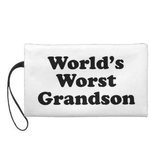 World's Worst Grandson Wristlet Purses
