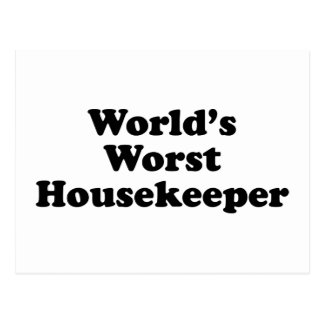World's Worst Housekeeper Post Cards