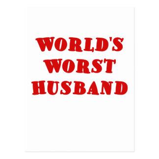 Worlds Worst Husband Postcard