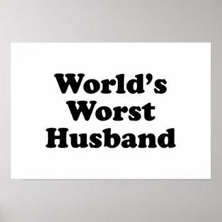 World's Worst Husband Poster