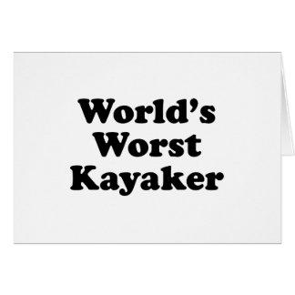 World's Worst Kayaker Card