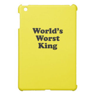 World's Worst King iPad Mini Cases