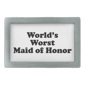 World's Worst Maid of Honor Belt Buckle