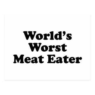 World's Worst Meat Eater Postcards