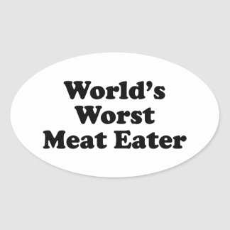 World's Worst Meat Eater Stickers