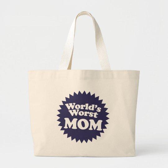 World's Worst Mom Large Tote Bag