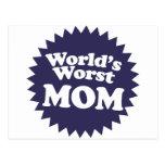 World's Worst Mom Post Card