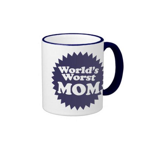 World's Worst Mom Ringer Coffee Mug