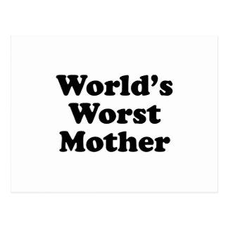 World's Worst Mother Postcard